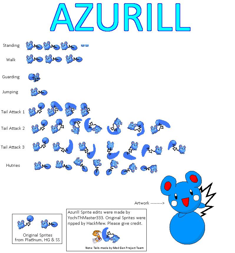 Azurill Sprite Edit by YochiThMaster333