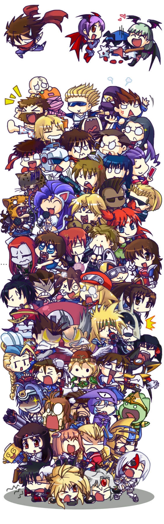 Namco X Capcom Chibis Bundle by PhuiJL