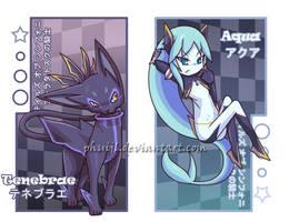 Aqua and Tenebrae Bookmarks by PhuiJL