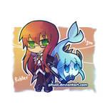 Chibi Richter and Aqua
