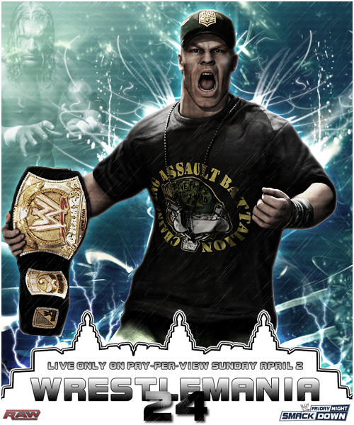 Wrestlemania 24 Custom Poster by pollo0389Wrestlemania 24 Poster