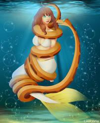 Mermaid Celica hypnotized by LiloLoria