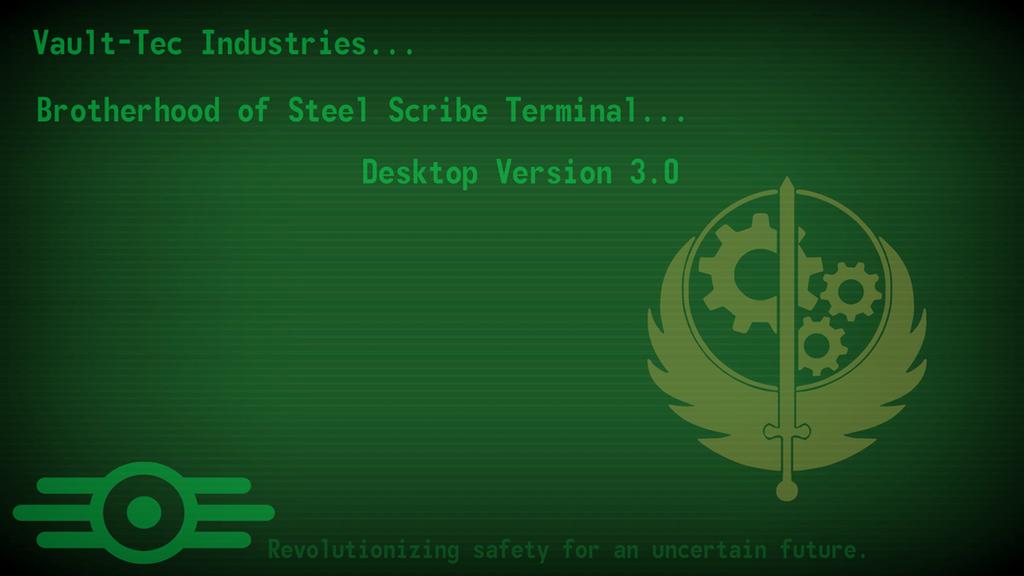 Brotherhood Of Steel Scribe Terminal Wallpaper By Harknus