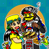 Tezcatlipoca and Xilonen