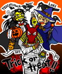Halloween:Tezcatlipoca,Loki,Set by nosuku-k