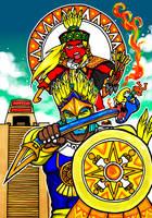 Huitzilopochtli and Tonatiuh by nosuku-k