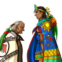 New Tlatoani and old Cihuacoatl by nosuku-k