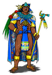 Tlatoani (Aztec emperor) by nosuku-k