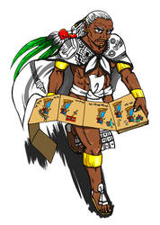 Cihuacoatl (the adviser to the ruler) by nosuku-k