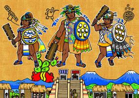 Acamapichtli,Huitzilihuitl,Chimalpopoca by nosuku-k