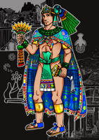 Tlatoani Nezahualpilli, my manga version by nosuku-k