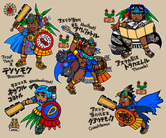 Mexico, the 14-16th centuries, heroes of Anahuac by nosuku-k