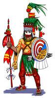 Moctezuma II who dresses as Xipe Totec by nosuku-k