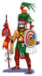 Moctezuma II who dresses as Xipe Totec