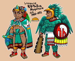 The tlatoani of Tlatelolco, Moquihuix by nosuku-k