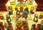 The little ahuizotl in Tlatoani's wedding by nosuku-k