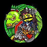 Quetzalcoatl and Tezcatlipoca by nosuku-k