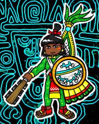 Aztec warrior