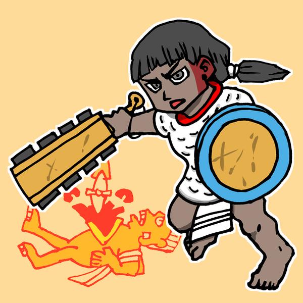 Aztec warrior by nosuku-k