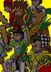 Aztec warriors 20181126 by nosuku-k