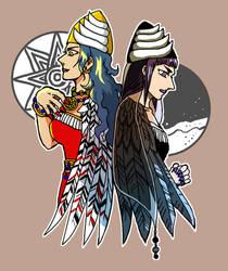 Inanna and Ereshkigal 20190302 by nosuku-k