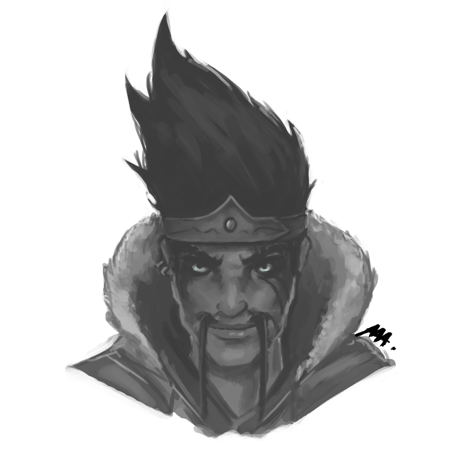 draven face league of legends by wroppi on deviantart