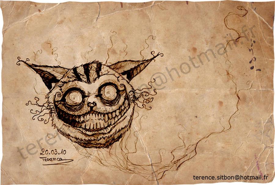 Alice in Wonderland Cat Drawings Alice in Wonderland Cat by