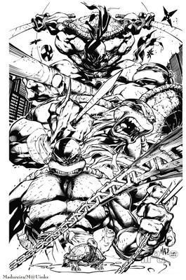 Ninja turtles inks by maurusso