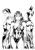Superman Wonderwoman Batman by maurusso