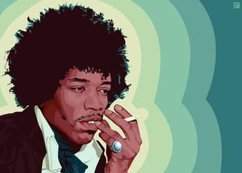Jimi Hendrix by monsteroftheid