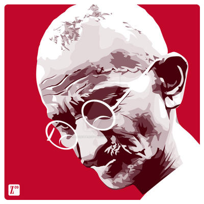 Gandhi by monsteroftheid