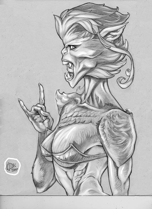 Werewolf lady by EisArt