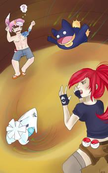 pkmn fight by Loucie