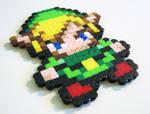 Perler Link from Zelda2