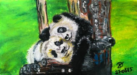 Cuddling Panda by happymint