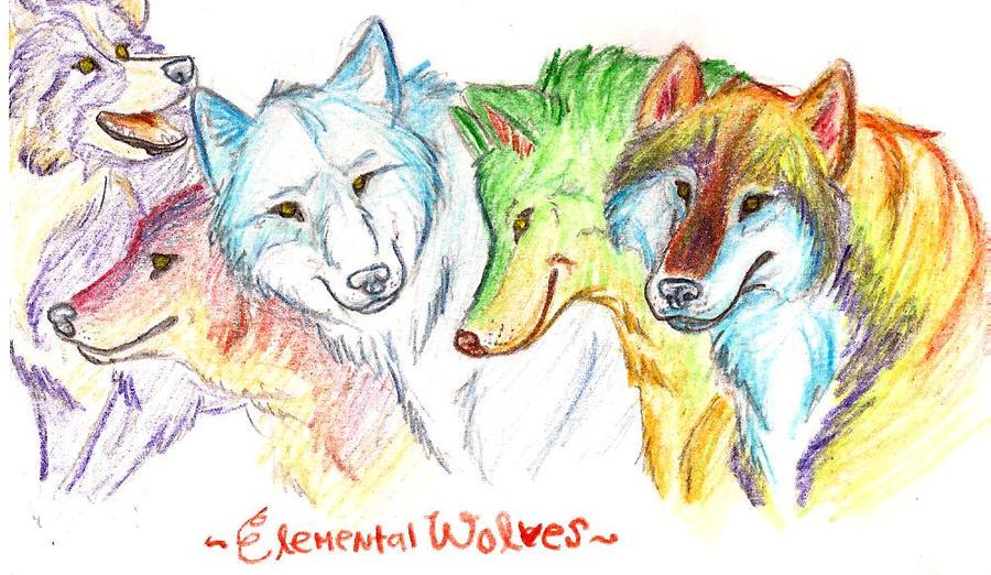 elemental wolves by russianpelican on DeviantArt