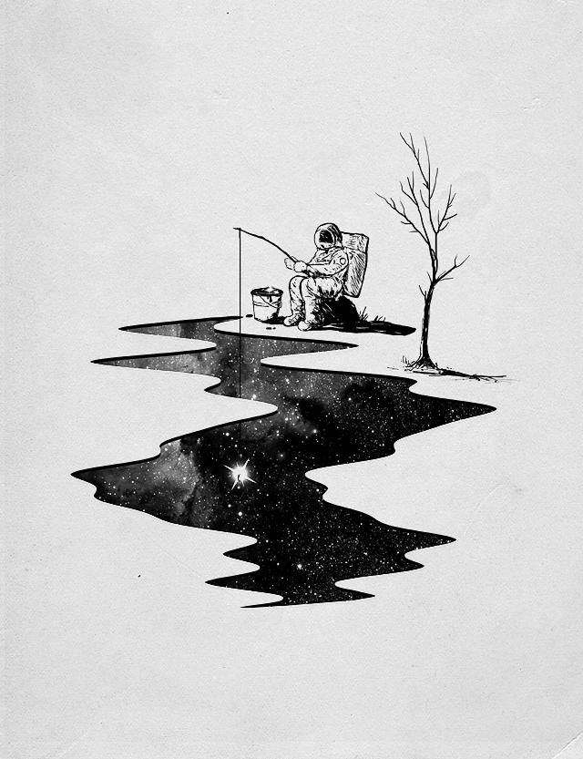 Star Fishing by NicebleedArt