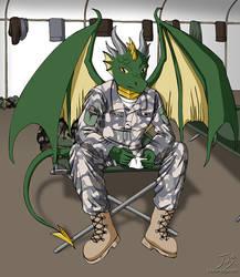 Dragon Soldier by CitizenOfZozo-art