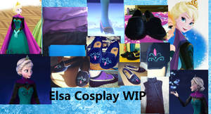 Elsa coronation cosplay work in progress