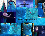Coronation Elsa Cosplay WIP 3 Embroidery