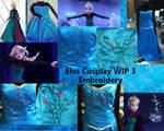 Coronation Elsa Cosplay WIP 3 Embroidery