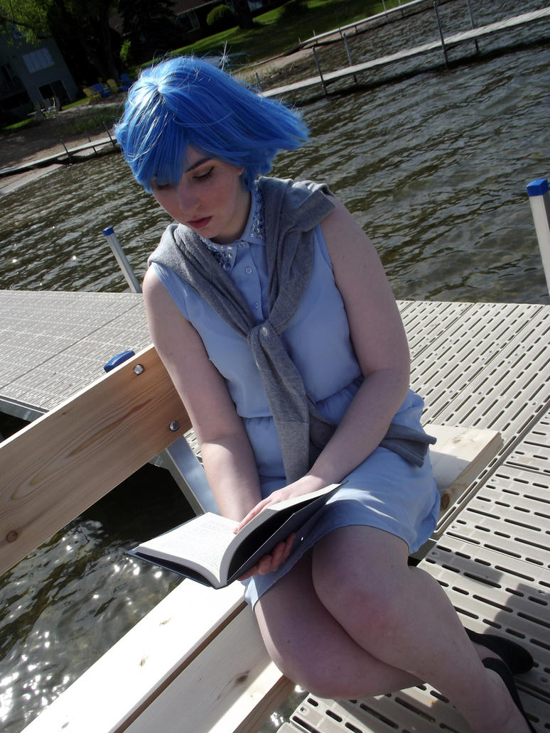 Relaxing With a Book by MishaCosplay