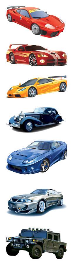- 7 Vector Cars