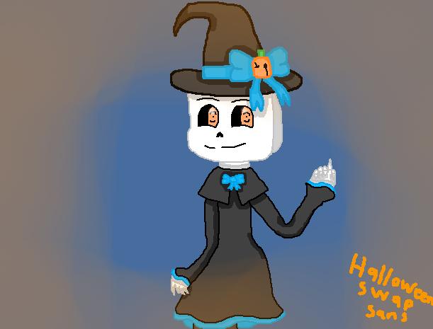 HalloweenSwap!Sans by skyloxismything