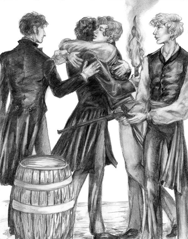 Courfeyrac Glomps Marius by ColonelDespard