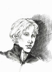 Enjolras Sketch by ColonelDespard