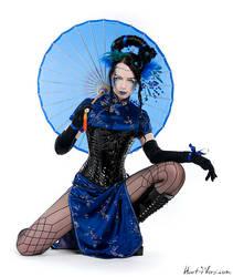 The Blue Umbrella by blackfantastix