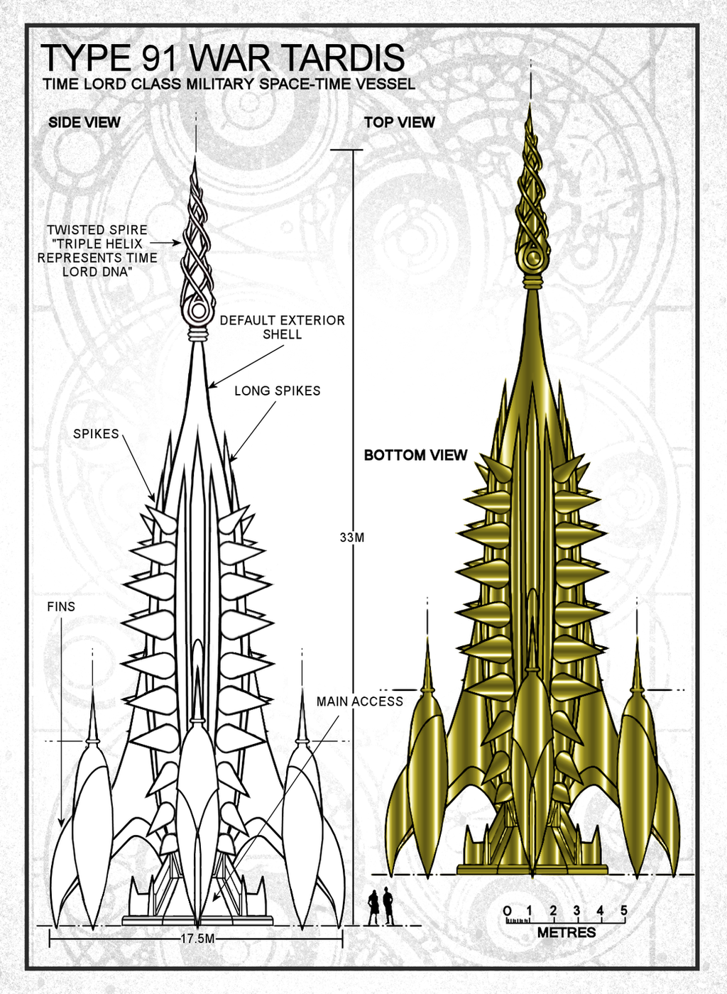 Type 91 TARDIS War Spire Preview by Time-Lord-Rilon on DeviantArt