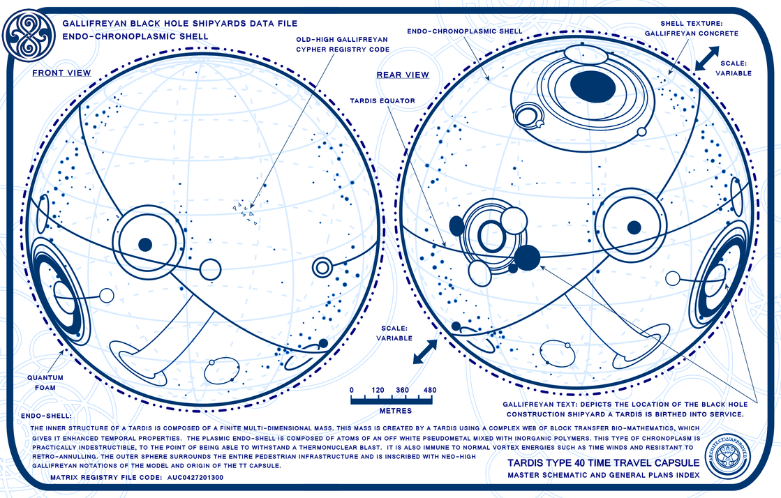 TARDIS Master schematics Endo-Shell 1 by Time-Lord-Rilon on ...