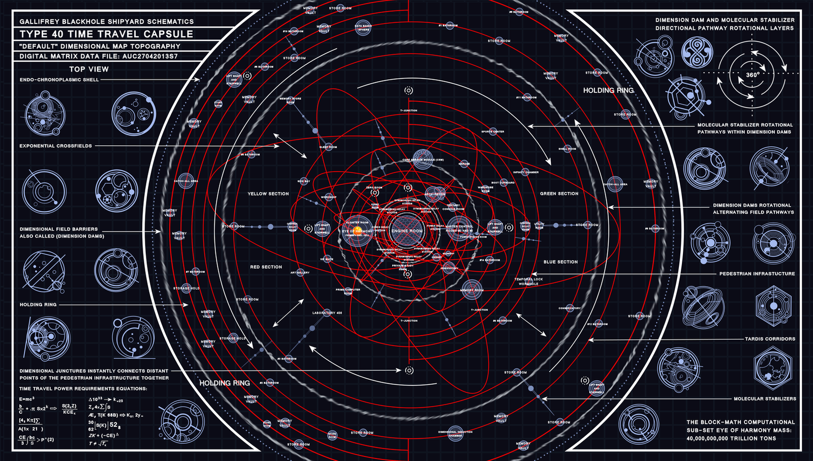 TARDIS Type 40 Dimensional Map Schematic by Time-Lord-Rassilon on ...